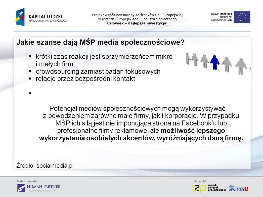 Jakie szanse dają MŚP media społecznościowe