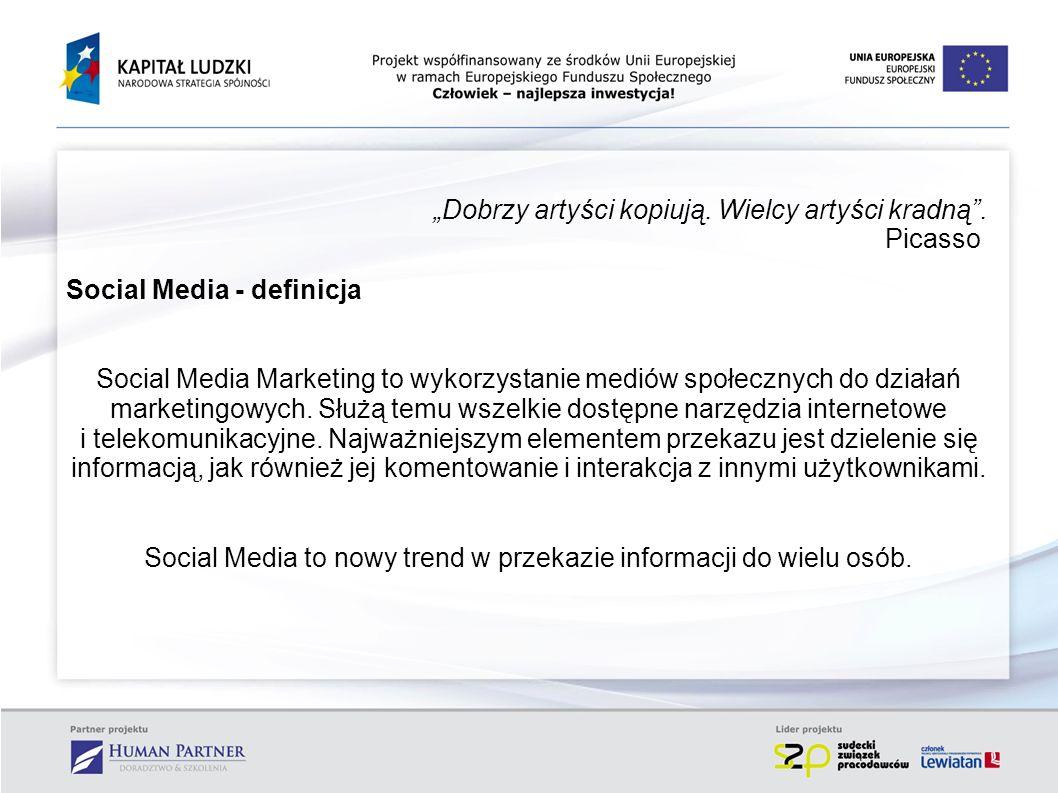 Social Media to nowy trend w przekazie informacji do wielu osób.