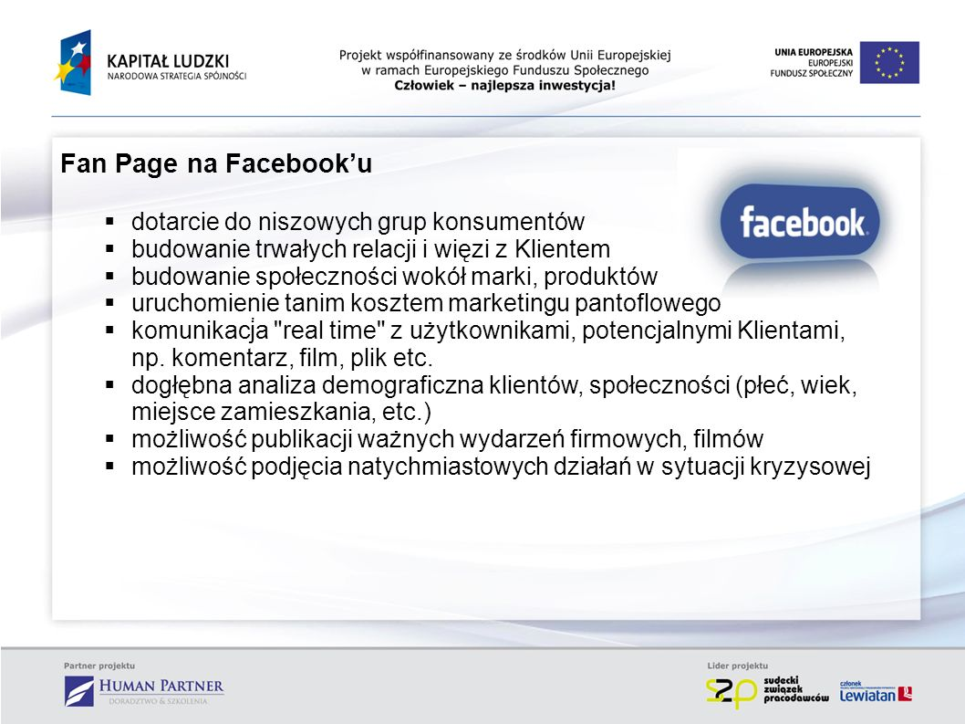 Fan Page na Facebook'u dotarcie do niszowych grup konsumentów
