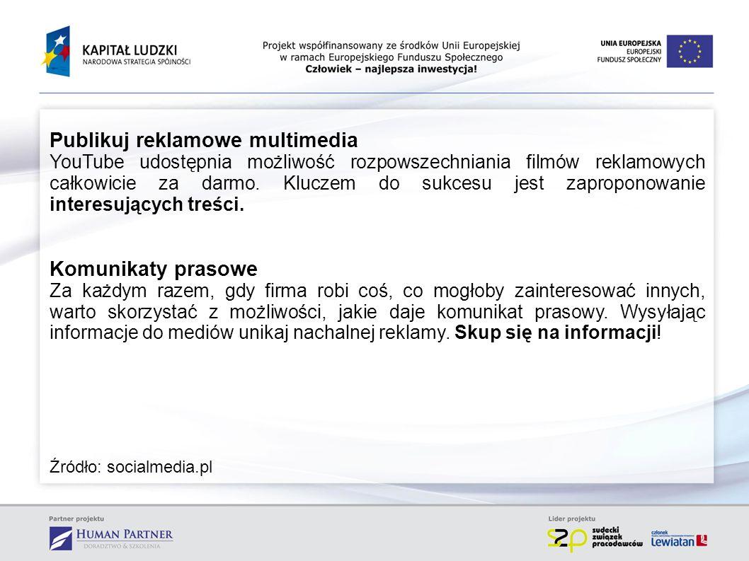 Publikuj reklamowe multimedia