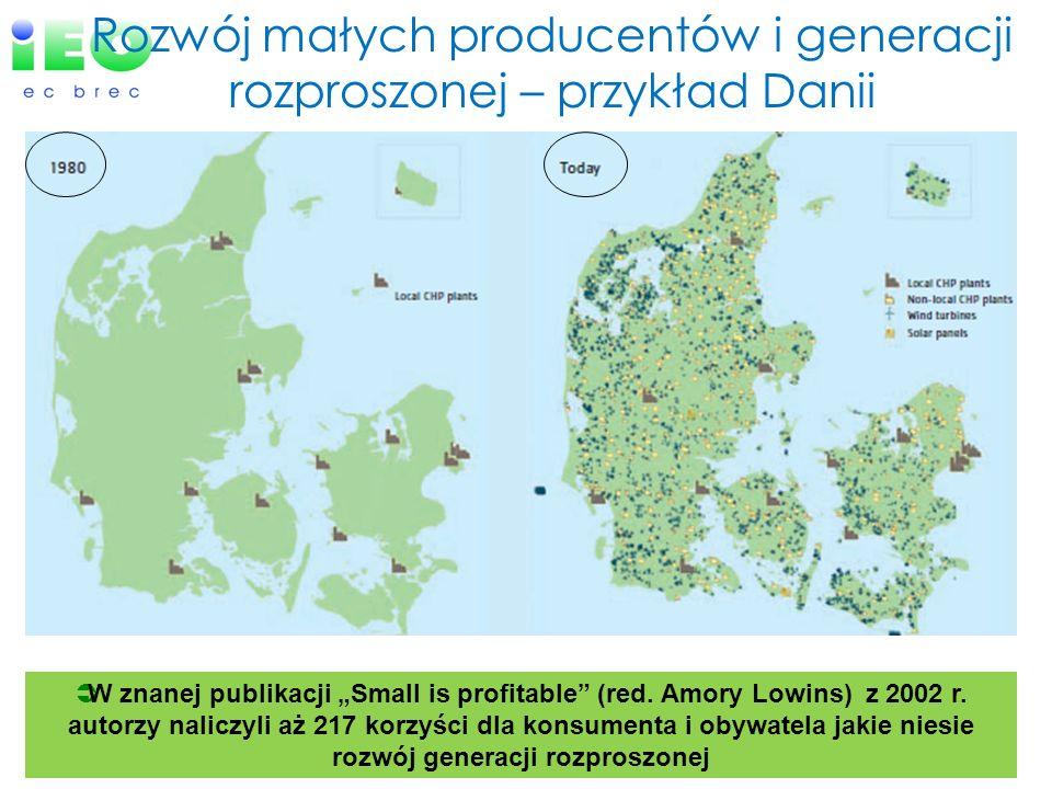Rozwój małych producentów i generacji rozproszonej – przykład Danii