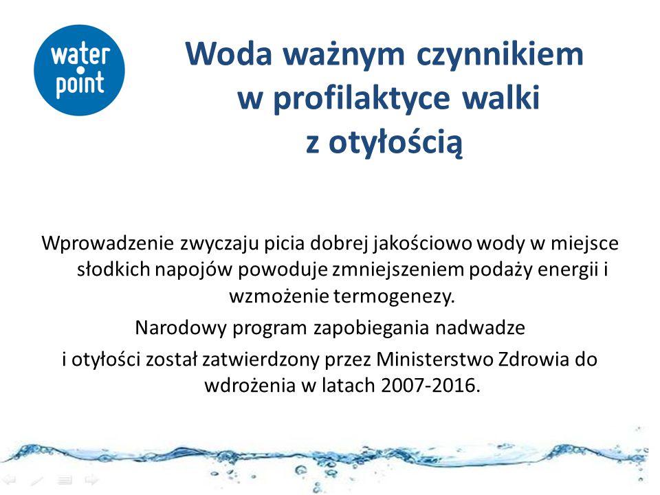 Woda ważnym czynnikiem w profilaktyce walki z otyłością