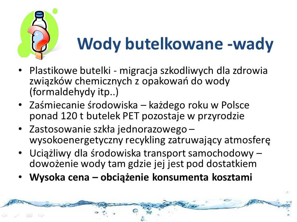 Wody butelkowane -wady