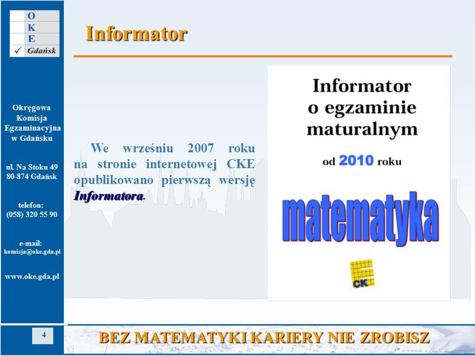 Informator BEZ MATEMATYKI KARIERY NIE ZROBISZ