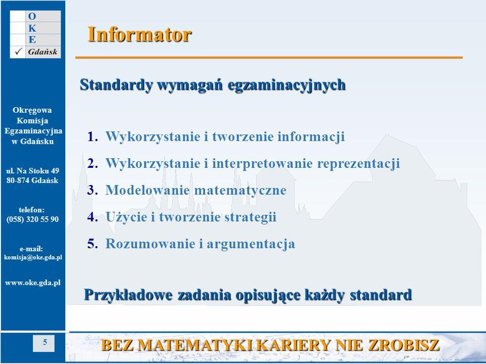 Informator Standardy wymagań egzaminacyjnych