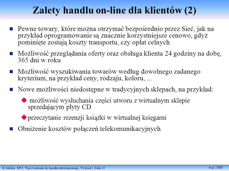 Zalety handlu on-line dla klientów (2)