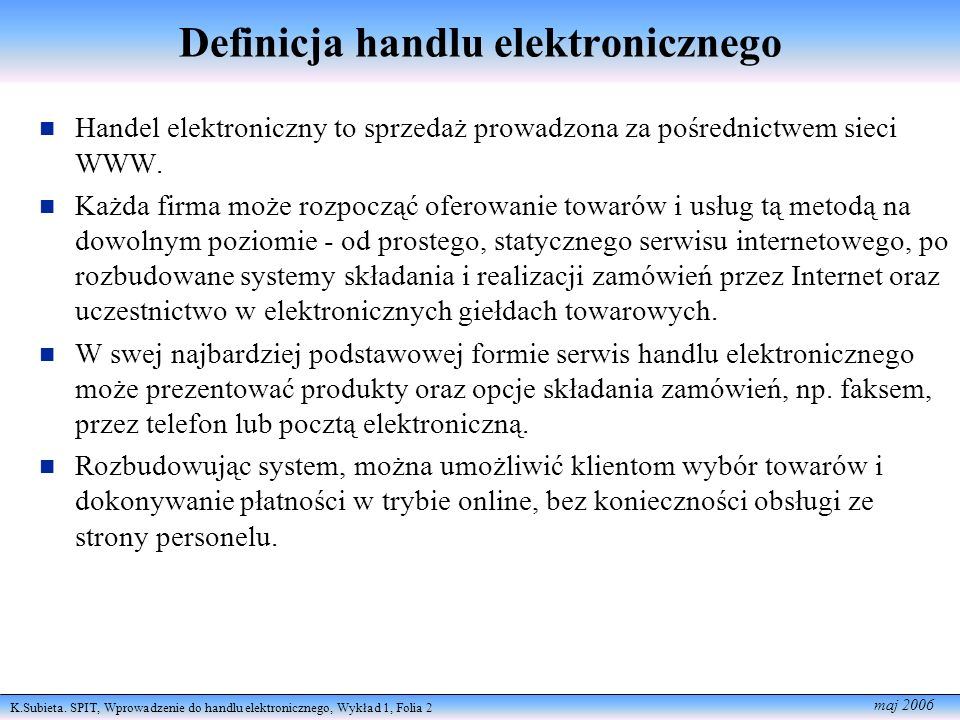 Definicja handlu elektronicznego