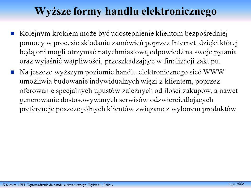 Wyższe formy handlu elektronicznego