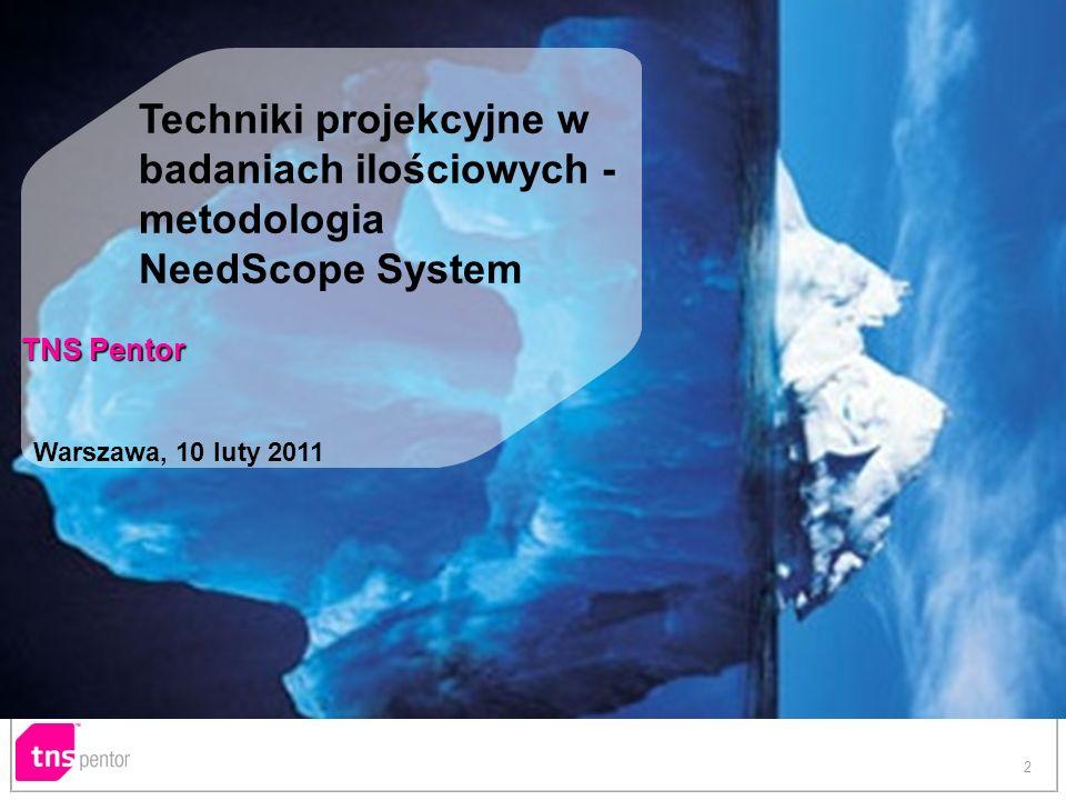Techniki projekcyjne w badaniach ilościowych - metodologia NeedScope System