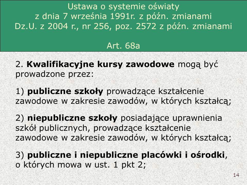 Ustawa o systemie oświaty z dnia 7 września 1991r. z późn. zmianami