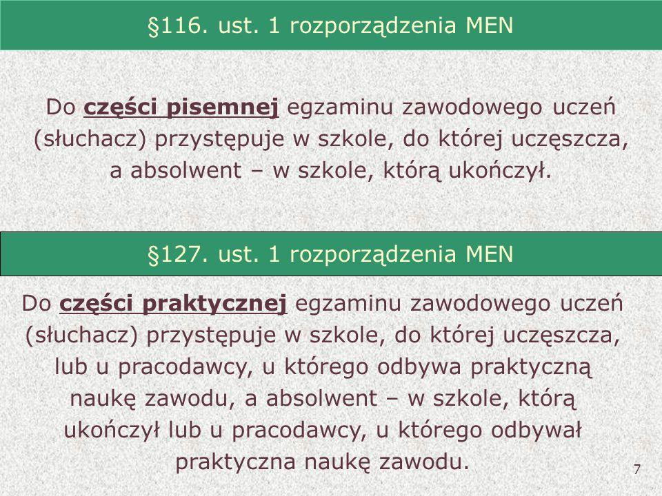 §116. ust. 1 rozporządzenia MEN