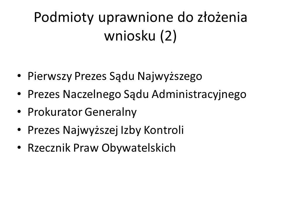 Podmioty uprawnione do złożenia wniosku (2)