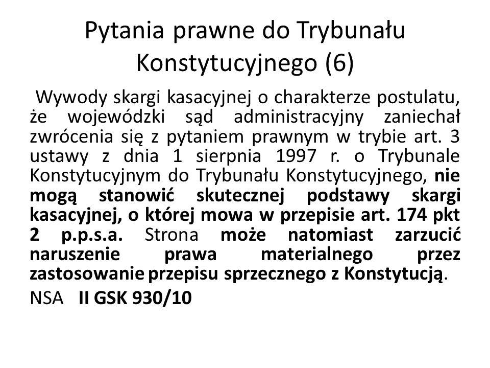 Pytania prawne do Trybunału Konstytucyjnego (6)