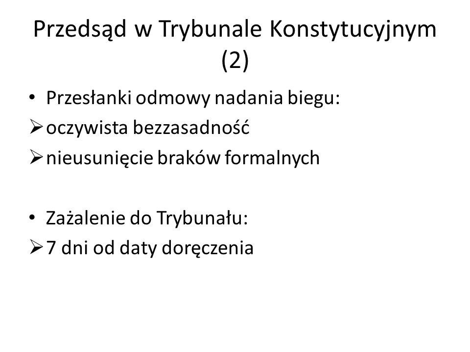 Przedsąd w Trybunale Konstytucyjnym (2)