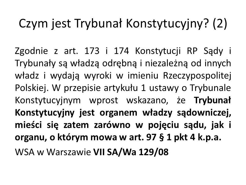 Czym jest Trybunał Konstytucyjny (2)