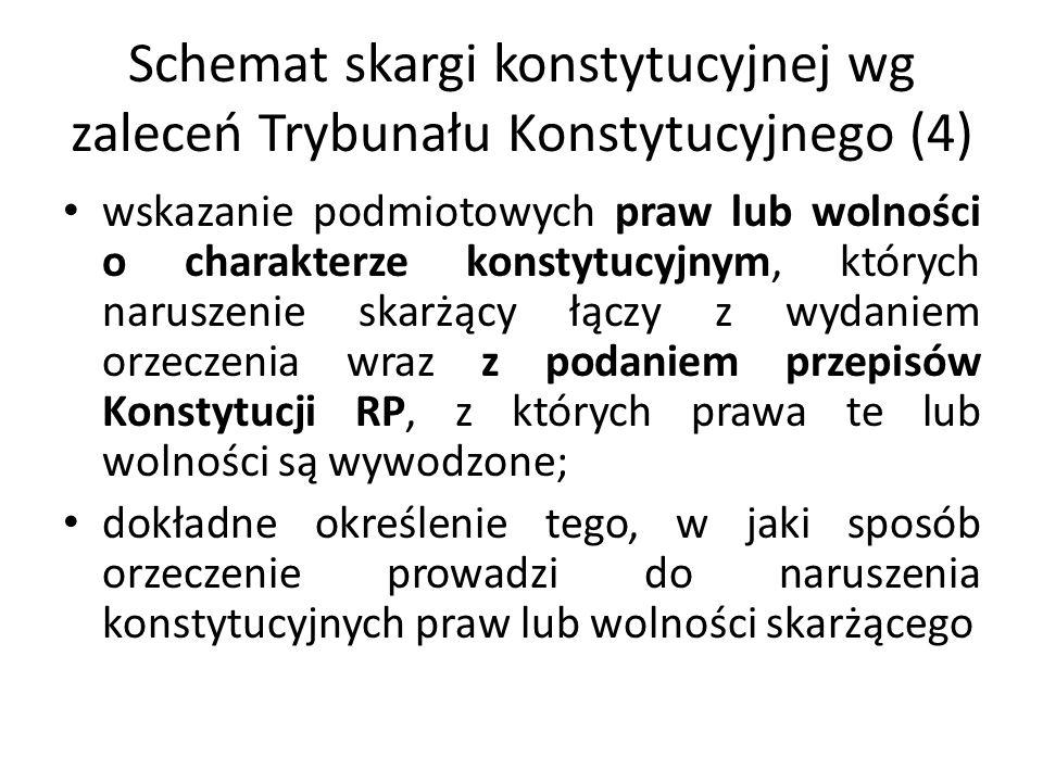 Schemat skargi konstytucyjnej wg zaleceń Trybunału Konstytucyjnego (4)