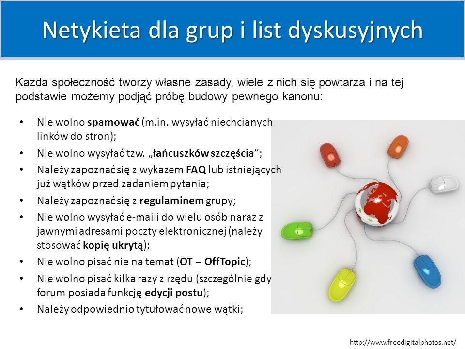 Netykieta dla grup i list dyskusyjnych