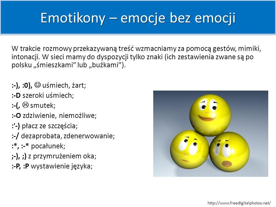 Emotikony – emocje bez emocji