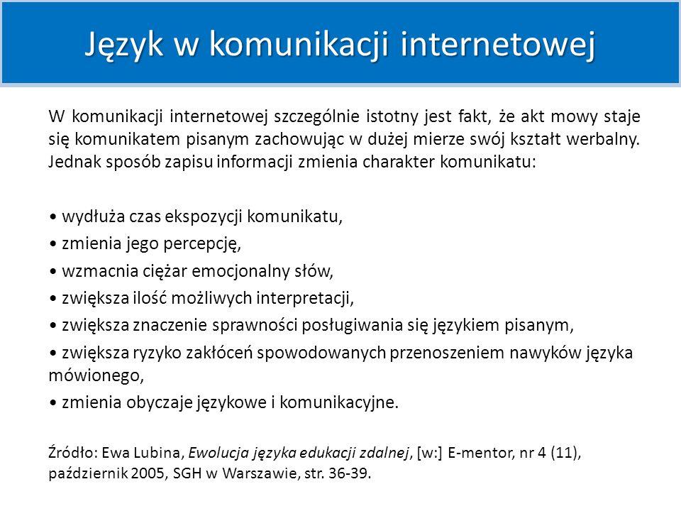 Język w komunikacji internetowej