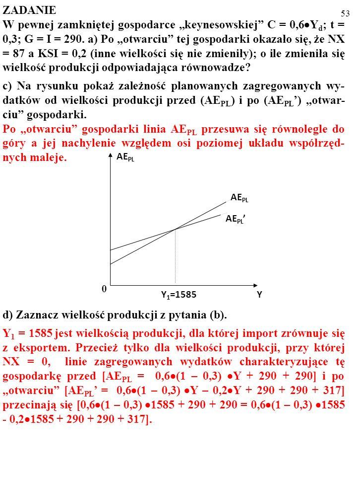 d) Zaznacz wielkość produkcji z pytania (b).