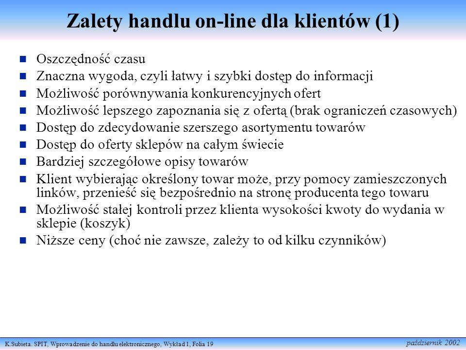 Zalety handlu on-line dla klientów (1)