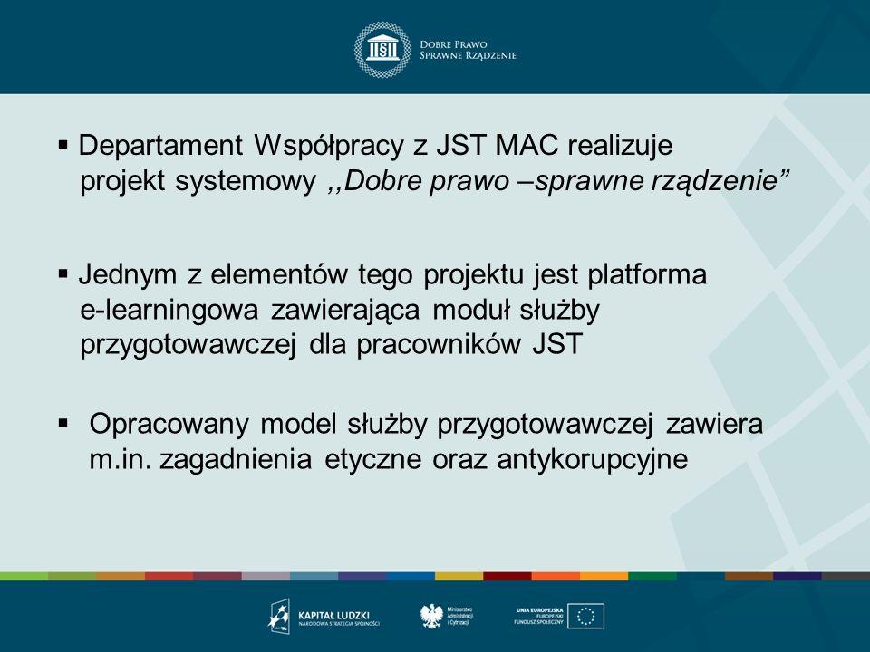 Departament Współpracy z JST MAC realizuje