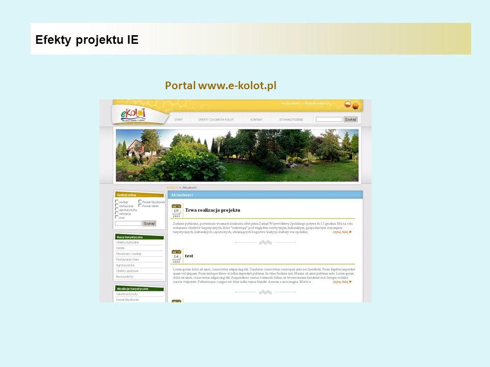 Efekty projektu IE Portal www.e-kolot.pl