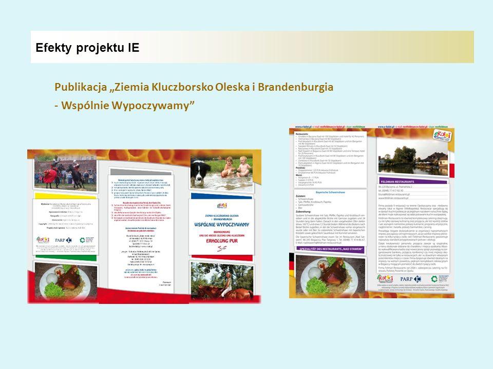"""Efekty projektu IE Publikacja """"Ziemia Kluczborsko Oleska i Brandenburgia - Wspólnie Wypoczywamy"""