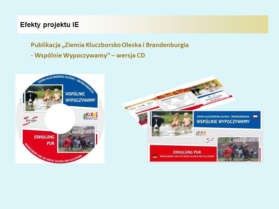 """Efekty projektu IE Publikacja """"Ziemia Kluczborsko Oleska i Brandenburgia."""