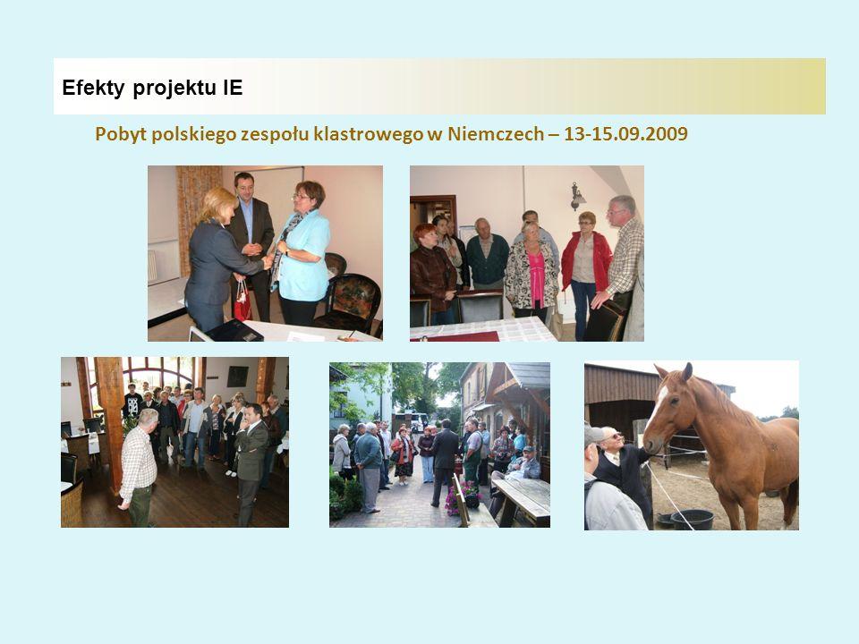 Efekty projektu IE Pobyt polskiego zespołu klastrowego w Niemczech – 13-15.09.2009
