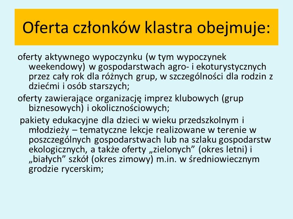 Oferta członków klastra obejmuje: