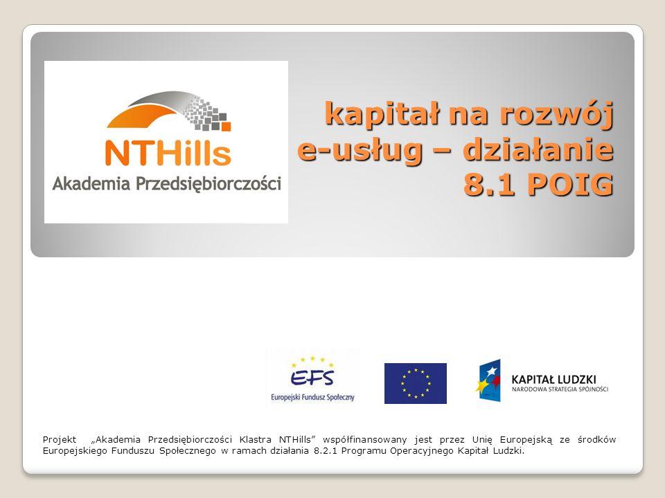 kapitał na rozwój e-usług – działanie 8.1 POIG