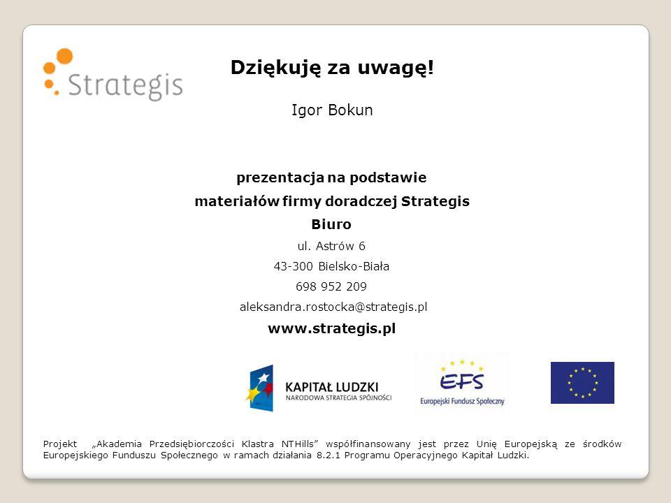 prezentacja na podstawie materiałów firmy doradczej Strategis