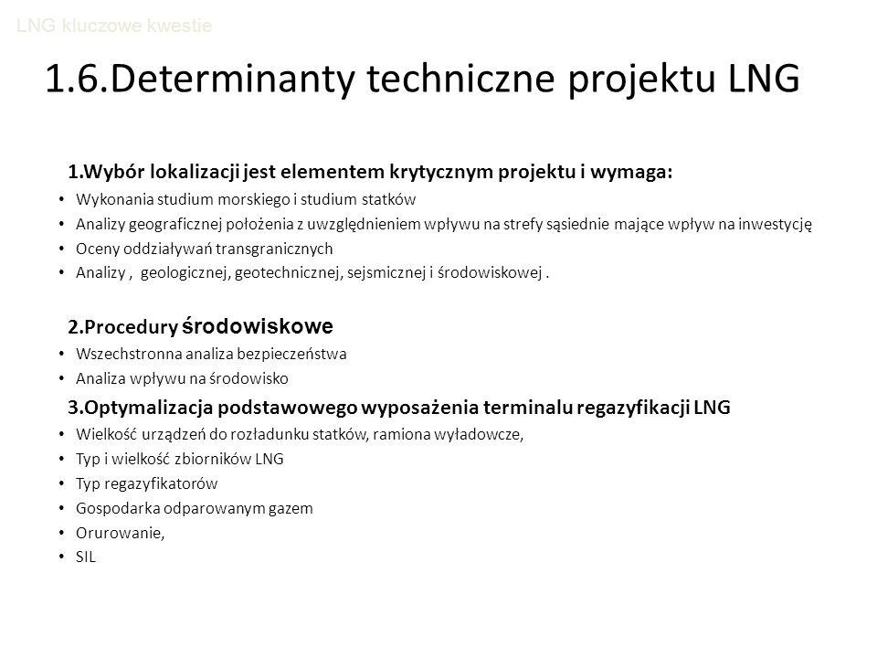 1.6.Determinanty techniczne projektu LNG