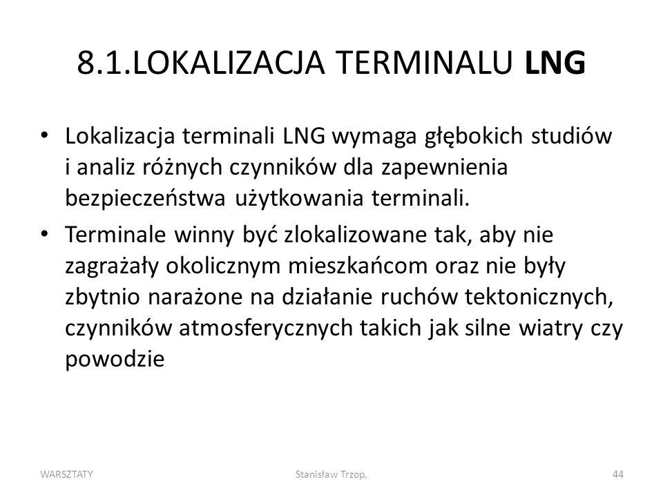8.1.LOKALIZACJA TERMINALU LNG