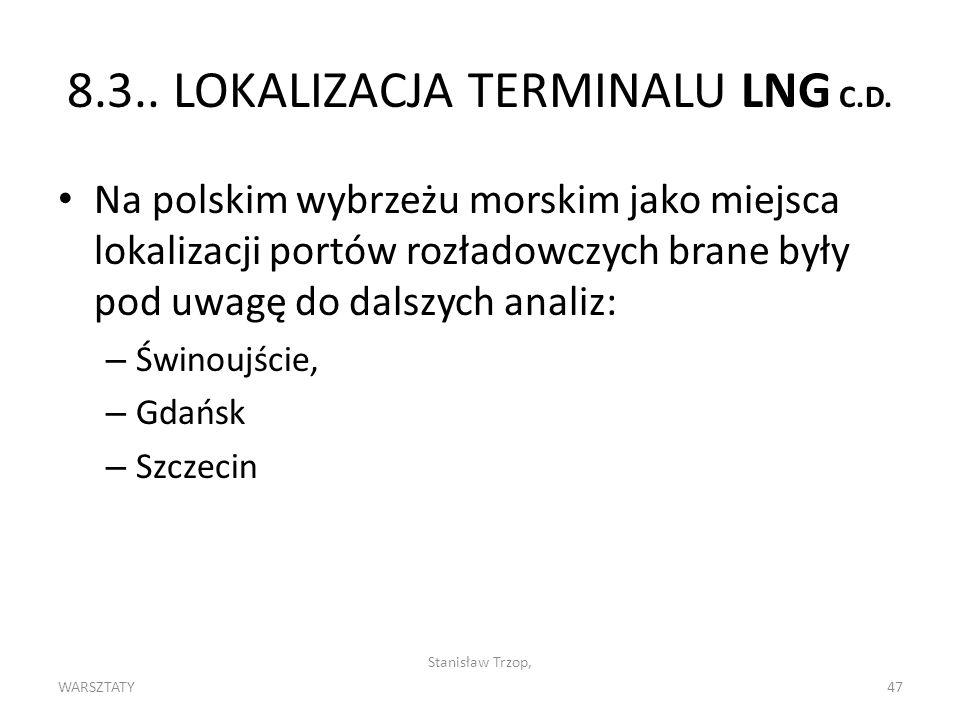 8.3.. LOKALIZACJA TERMINALU LNG C.D.