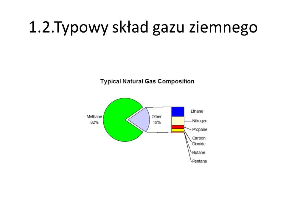 1.2.Typowy skład gazu ziemnego