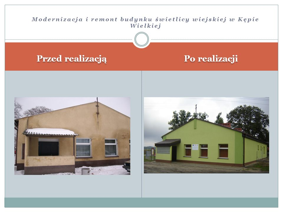Modernizacja i remont budynku świetlicy wiejskiej w Kępie Wielkiej