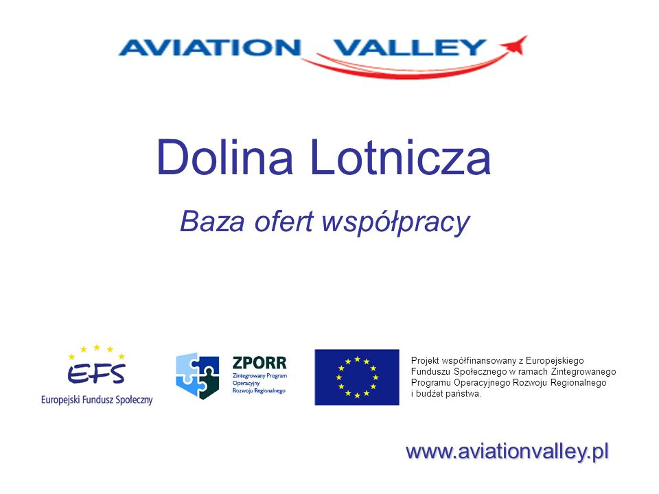Dolina Lotnicza Baza ofert współpracy