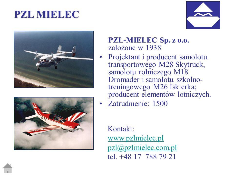 PZL MIELEC PZL-MIELEC Sp. z o.o. założone w 1938