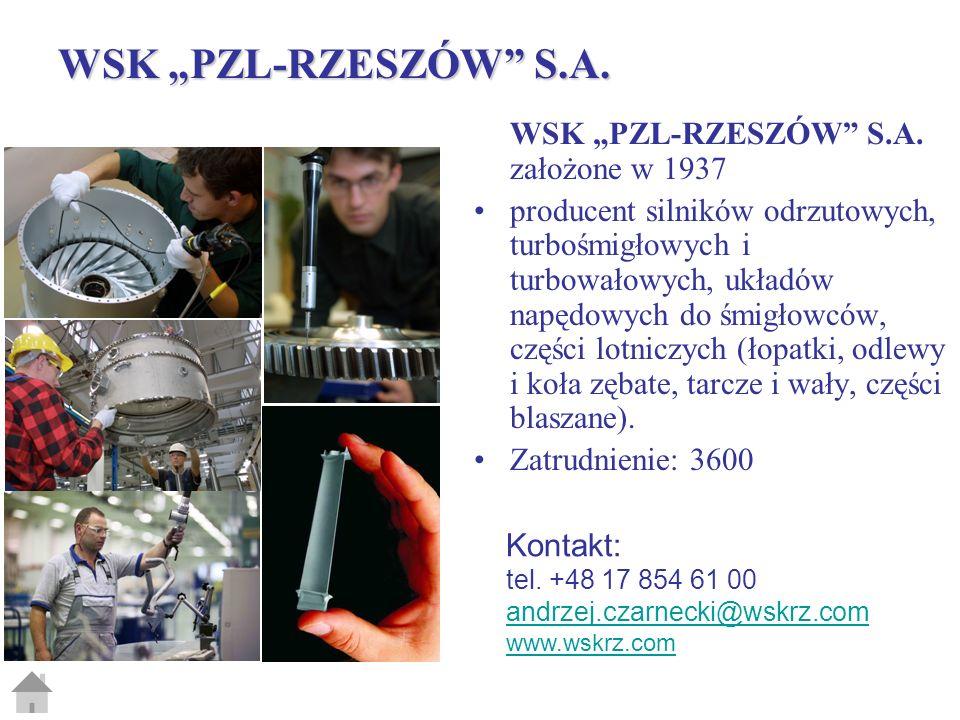 "WSK ""PZL-RZESZÓW S.A. WSK ""PZL-RZESZÓW S.A. założone w 1937"