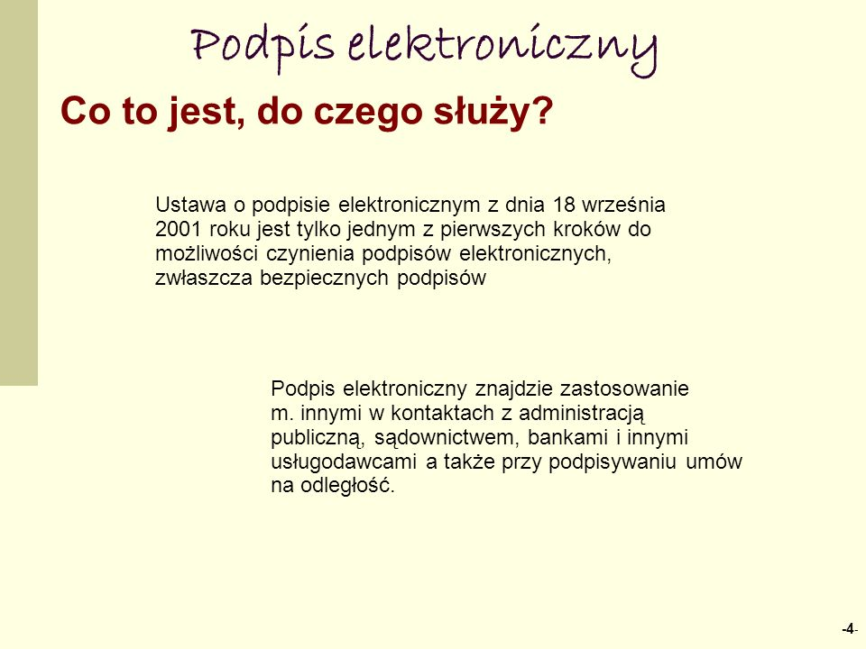 Podpis elektroniczny Co to jest, do czego służy