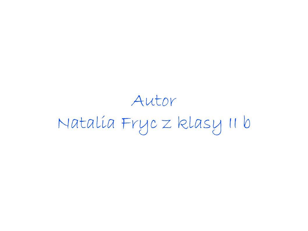 Natalia Fryc z klasy II b