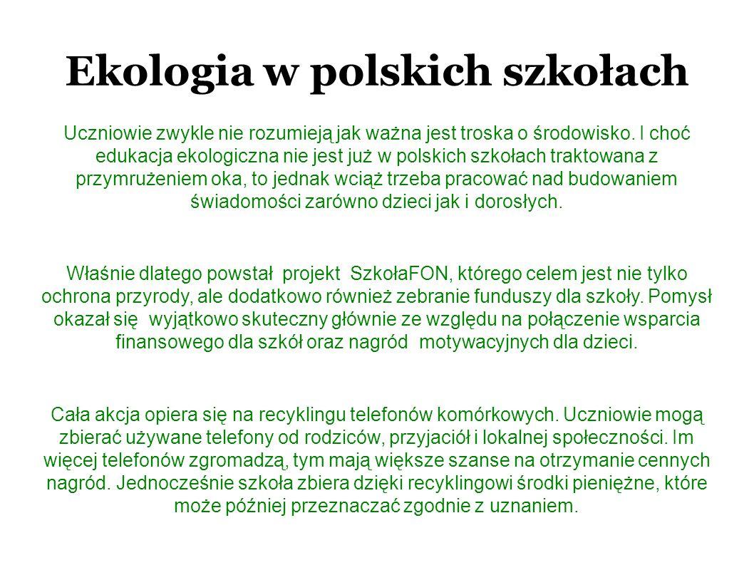 Ekologia w polskich szkołach