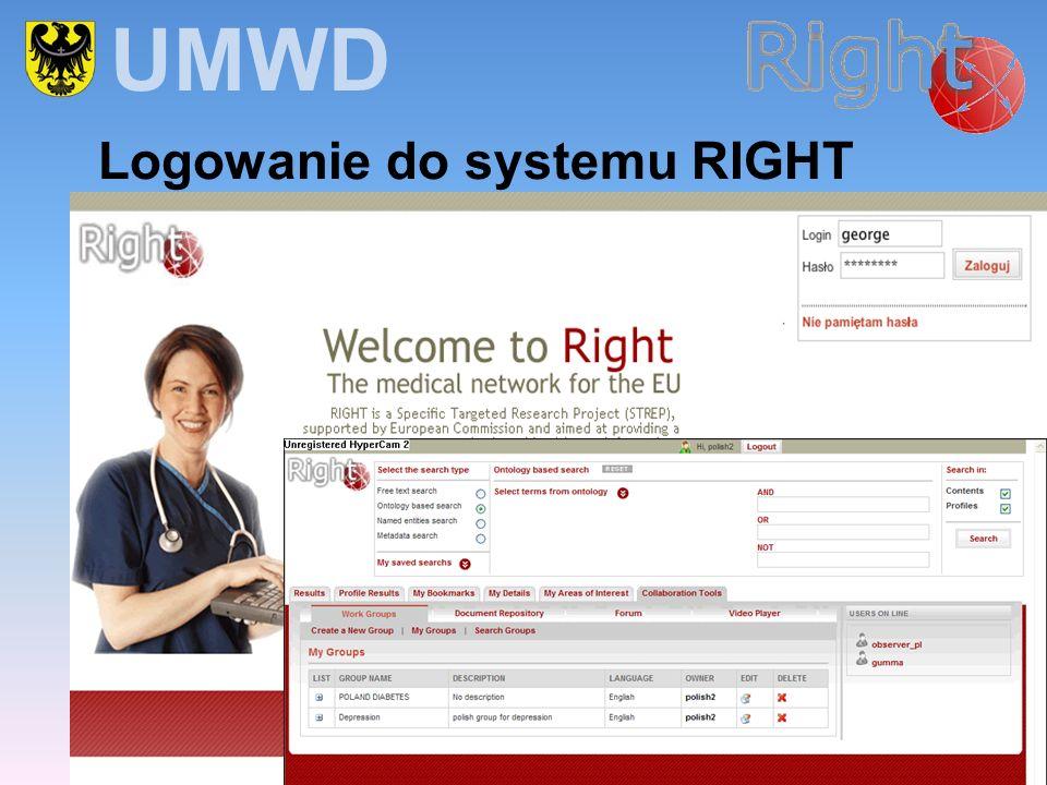 UMWD Logowanie do systemu RIGHT