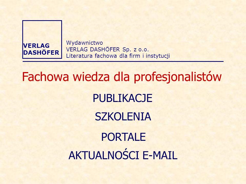 Fachowa wiedza dla profesjonalistów