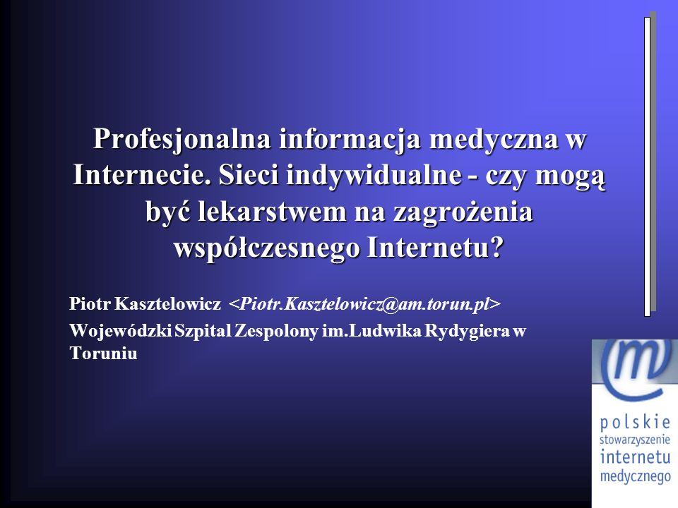 Profesjonalna informacja medyczna w Internecie