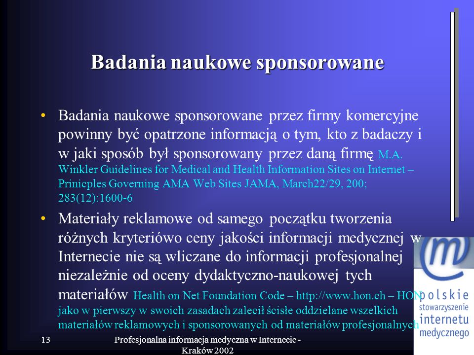 Badania naukowe sponsorowane