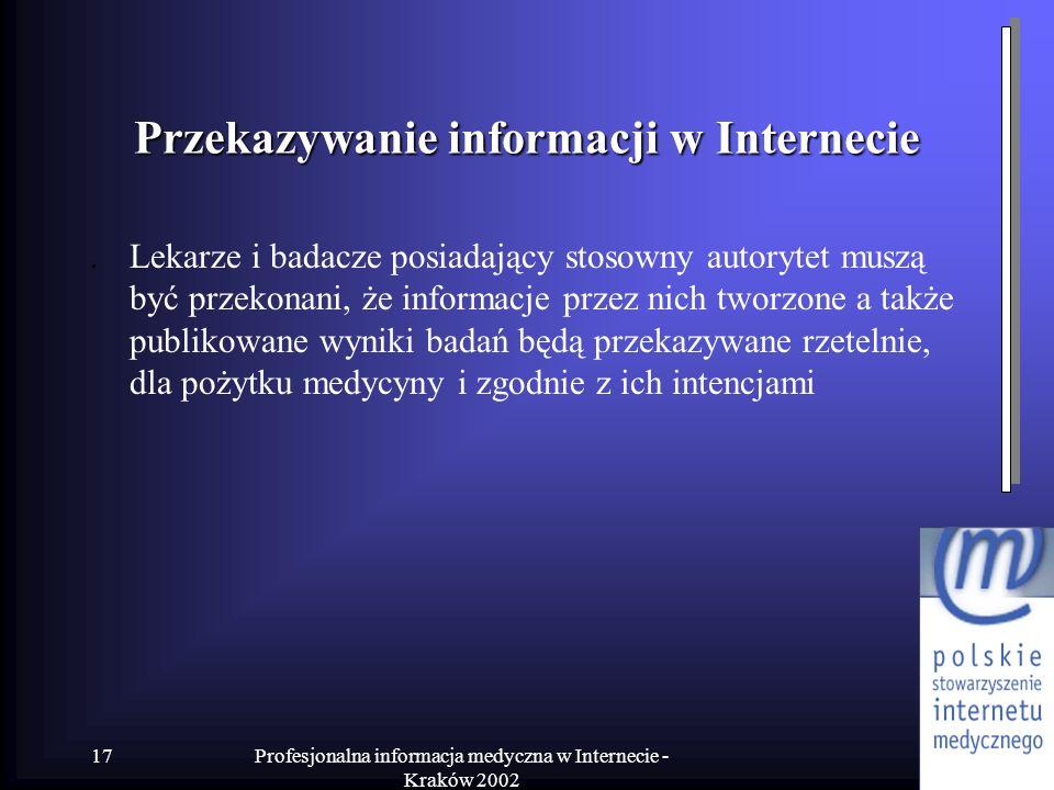 Przekazywanie informacji w Internecie