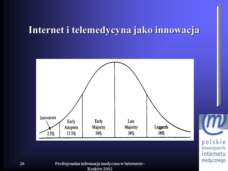 Internet i telemedycyna jako innowacja